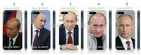 Hot 5 pcs/lots wholesale vladimir putin  hard Black case cover   for iphone 4 4s+free shipping