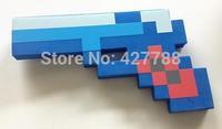 1 piece newly designed minecraft blue pistol, diamond gun, minecraft iron pistol toy for child, Free Shipping