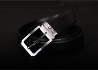 1:1 Design Alloy Belt Buckle,fashion business Belts Black For men's Formal Belt & Jeans Genuine Leather belt  Free shipping