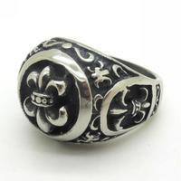 Black Tribe Fleur de lis Charm Jewelry, Gothic Biker 316L Stainless Steel Rock Vintage Men Jewelry