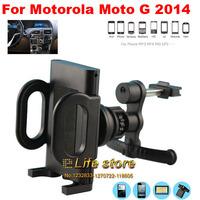 360 Degree Rotating Mobile Phone Holders Stand Car Air Vent Holder  For Motorola Moto G (2014) (2nd Gen.)Moto G2 Moto G+1