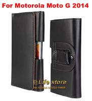 Belt Clip Case Mobile Phone Case Leather Pouch PU Case  For Motorola Moto G (2014) (2nd Gen.)Moto G2 Moto G+1