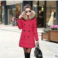 2014 Winter New and Fashion Warm  High Quality Fur Hooded Coats Women Down Coats  TSP1751
