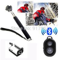 Selfie Wink Monopod Extendable Handheld Holder Bluetooth Remote Control Black