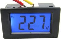 AC 80-500V LCD digital voltage volt panel meter voltage tester Monitor gauge display black shell 110V 220V 380V