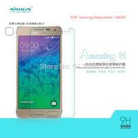 Free ship 5pcs NILLKIN  Amazing  H & H+ Nanometer Anti-Explosion Glass Screen Protectors for  Samsung Galaxy Alpha G850F case