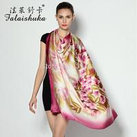 Fl 2014 women's mulberry silk ultra wide large facecloth silk scarf cape