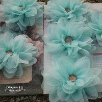 Wrinkled silk chiffon flower material cloth flowers magnolia blossom fairy gas dimensional handmade DIY wedding accessories
