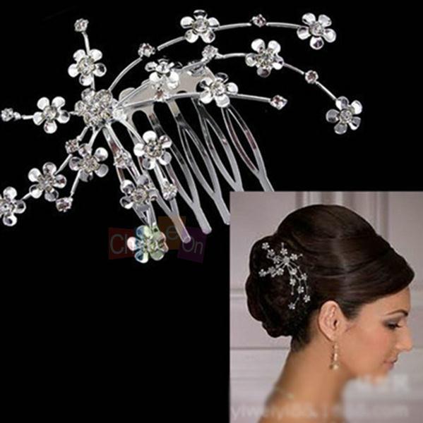 Bride Hair Accessories Plate Made Supplies Wedding Party Bridal Starry Rhinestone Hair Comb Tiara(China (Mainland))