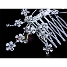 Bride Hair Accessories Plate Made Supplies Wedding Party Bridal Starry Rhinestone Hair Comb Tiara