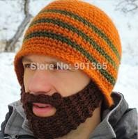 Hats Beanie Skull Caps Bearded Wool Knitted Hats Beard Knitted Hat Warmer Ski Bike Skull Hat Unisex Men Beard Cap Christmas