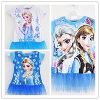 Frozen Costume Girls Dress Infantil Elsa Dress Kids Dress Frozen Anna Dress Vestidos De Menina Kids Clothes Meninas Vestir WB-20