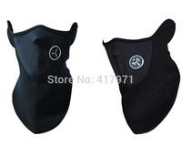Neoprene Snowboard Ski Half Face Mask Soft Cotton Fleece Neck Ear Warmer Protection  Biker Motorcycle Facemask(10pcs/lot)