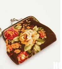 New 2015 Cute Lovely Portable Cartoon Wallet Coin Case Bag Plush Purse Handbag