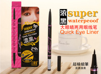 2014hot selling!!! high quality Automatic rotary waterproof pure black eyeliner pen quick eyeliner wholesale price