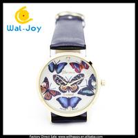100/lot alibaba China vogue pretty butterfly face cheap Geneva women watch(WJ-2774)