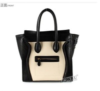 hot sale women fashion handbag, HOWRU leather handbag, the style restoring ancient Europe and drained smiling face tote bag