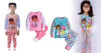 retail doc mcstuffins baby girls clothing set fashion cartoon long sleeve pajamas kids  children's pajamas set