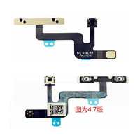 Replacement Repair Part Parts Power on/off Flex cable flash cable with Flash for Apple iPhone 6 4.7 inch