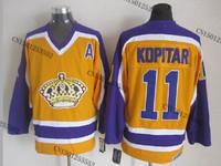 cheap stitched ice hockey jersey Los Angeles Kings #11 Anze Kopitar  men's ice hockey jersey/ shirt