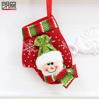 Free Shipping Christmas Gloves Snowman Socks Christmas Gift Decoration Christmas Ball 2Pcs/LOT