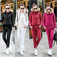2014 Wholesale Warm and thicken 100% High Quality 3 PCS  Women Down Coats  TSP1749