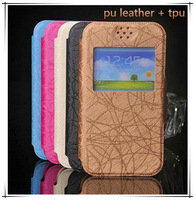 free shipping high quality pu leather cover case for gigabyte gsmart arty a3 case flip with view window o2