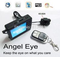 "2.5"" Angel Eye Mini Video Recording System Spy Button DVR Recorder KS-750M+303A"