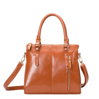Famous Brands Fashion women handbag genuine leather  shoulder bags messenger bag retro luxury tote motorcycle Oil wax skin