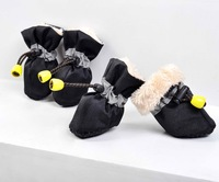 new thickening winter soft nap 4pcs/set Pet Dog Shoes/footwear Booties rain large snow Boots 7 sizes pet products hot selling