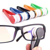 1200pcs/lot Mini Sun Glasses Eyeglass Microfiber Glasses Cleaning Cloth Brush Cleaner