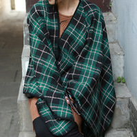 European and American counter goods England winter plaid cashmere shawl D104 containing cashmere triangle split