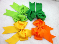EMS free 5inch high quality grosgrain ribbon cheer leading hair bow WITH clip,buotique hair bows for children 150pcs/lot