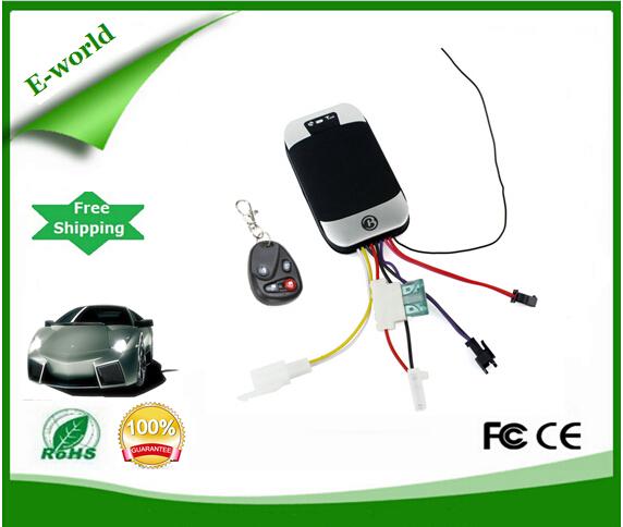 QUAD band TK303D Waterproof IP66 Motor Vehicle Car GSM GPS Tracker GPS303D+Remote Controller(China (Mainland))
