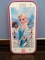 English language Elsa olaf princess educational mobile phone toy, intelligent dolls electronic pets learning machine for  kids