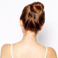 Bohemian Metal Pearl Beads Hair Clips Hair Jewelry Hair Accessories for Women pearl hair pins head chain,Free Shipping