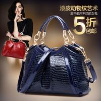 Best Gift For Mother! High grade Crocodile Patent leather women handbags Big Fashion shoulder messenger bags Brand women bag