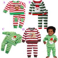 Christmas Pijamas Kids Set Infantil Girls & Boys Sleepwear Unisex Children's Clothing Kids Pajamas Menino Children's Set WB-30