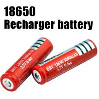 18650 Battery 3000mAh 3.7v Rechargeable Battery 2Pcs=1Lot  Free Shipping