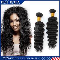 "6A Malaysian deep wave human hair bundles 2pcs/lot Malaysian virgin hair weaves 8""-30'' unprocessed human hair weaves extension"