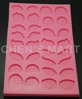 Free Shipping 5 pc 160G Eyes 3D Silicone Mould Cartoon Fondant GumPaste Cake Mold Chocolate Sugarcraft