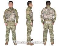 EMERSON Riot Style CAMO Uniform Set Tactical Combat Airsoft Shirt & Pants with elbow & knee pads EM6894AF A-TACS/FG AT/FG