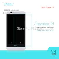 Free shipping 5pcs NILLKIN Amazing H Nanometer Anti-Explosion Glass Screen Protectors for HTC Desire 510  case