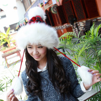 Hat female winter fashion lei feng cap extra-thick thermal princess hat knitted yarn ear protector cap