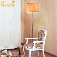 Free shipping  rural idyll American cloth art wiredrawing floor lamp