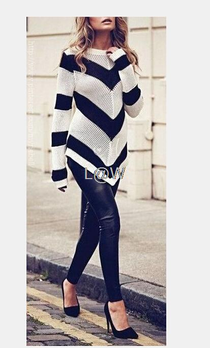 hot sale women clothes 2014 new fall fashion lady sweater round neck long-sleeved plaid Ms. Ms. pullover sweater diamond block(China (Mainland))