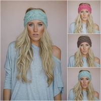Retail Free shipping knitting patterns handmade Knit Headbands Headwrap women fashion accessories 18 colors