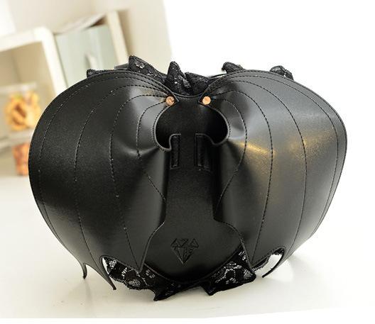 Bat Heart Backpack Bat Leather Backpack Cute