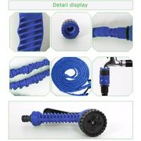 Garden Hose 100ft With Spary Gun Blue Flexible Water Hose Magic Expandable Water Hose Wash Car