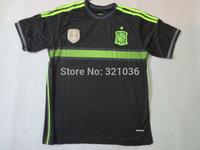 Good   Quality    Espanha    Espana  away   black  2014      training     Football Jerseys    Soccer    Free Shipping